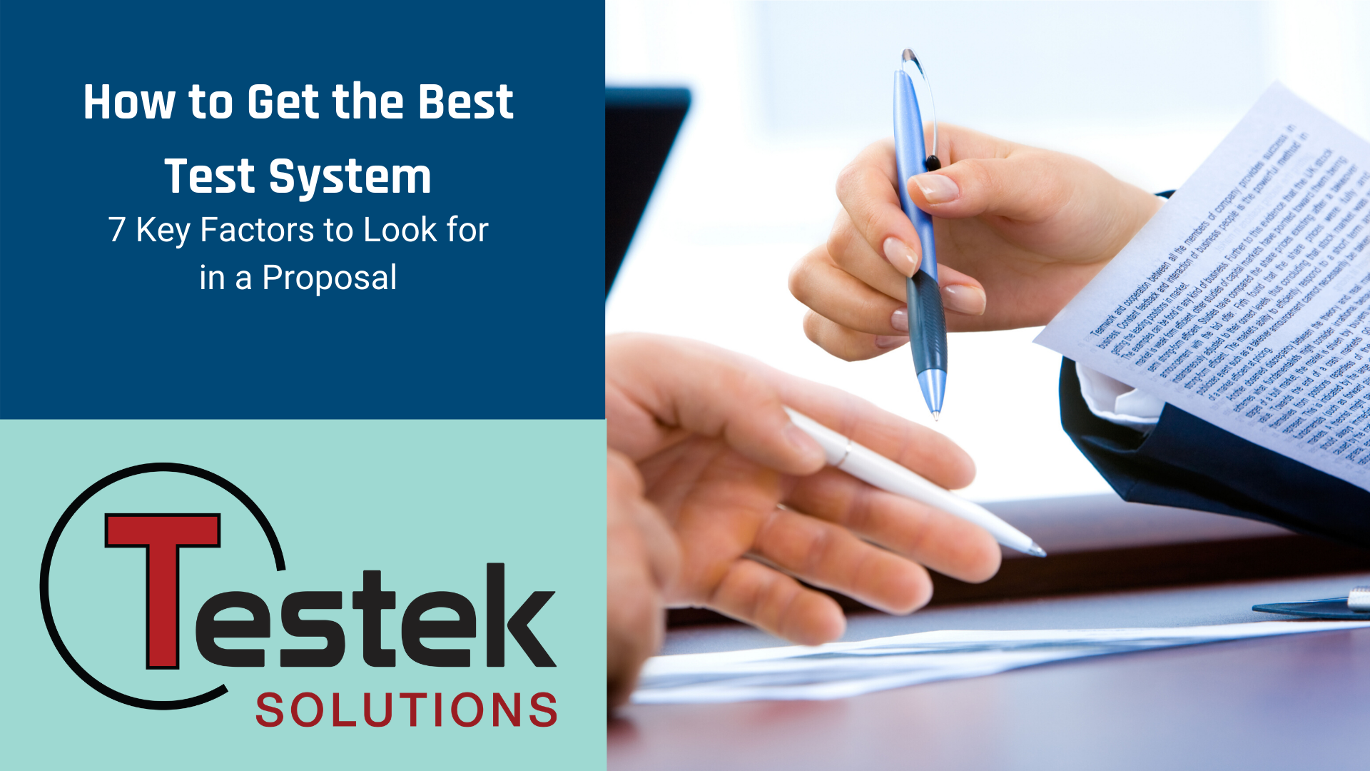 How to Get the Best Test System: 7 Key Factors to Look for in a Proposal